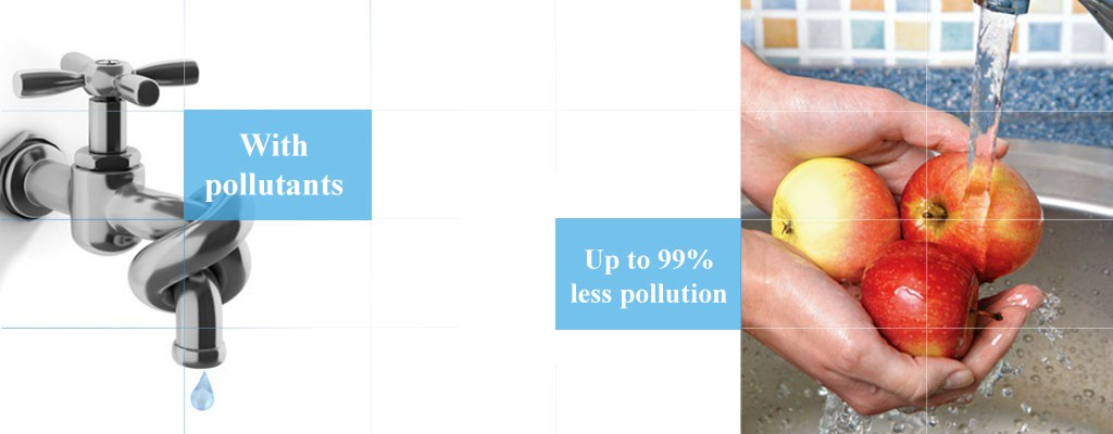 Up to 99% less pollution